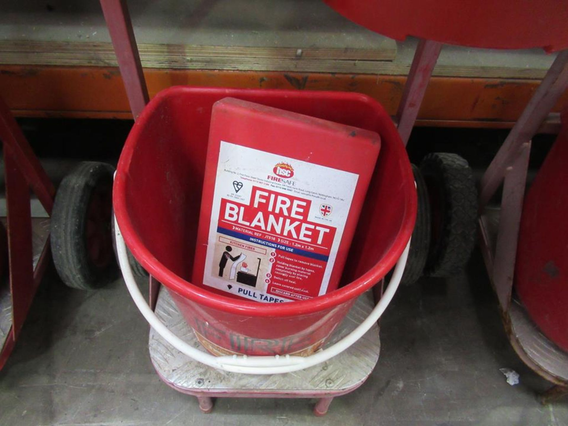 Fire Safety Barrow with extinguisher - Image 2 of 2