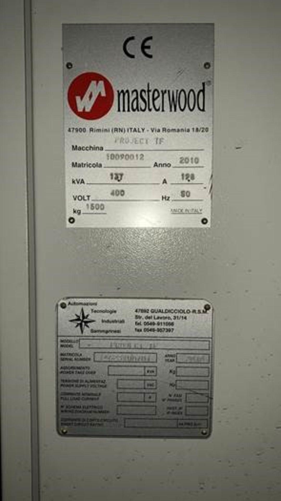 2010 Masterwood Project TF100 CNC Machine Centre - Image 4 of 7