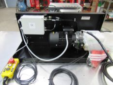 An Unused Hydraulic Power Pack, Box Mounted with Rexroth Hydraulic Pump.