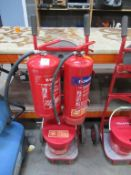 Fire Safety Barrow with extinguishers and bucket