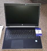 HP ProBook 450 G5 laptop, Serial Number 5CD9037HQG