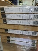 (S181) PALLET TO CONTAIN 62 x NEW SETS OF 2 DARWIN SHELVES IN WHITE. 100CM LONG x 37CM DEEP X 1.