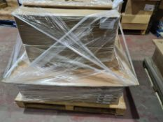 (A14) PALLET TO CONTAIN 84 x NEW ITEMS TO INCLUDE: 60 X 925mm BASE POST TEXTURED OAK EFFECT & 24 x