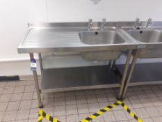 2x Sissons S/S Prep Tables and 2x Sissons S/S Sink Units