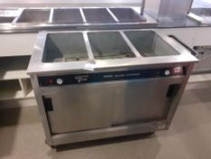 Victor Lockhart Riviera Bain Marie Hot Cupboard, Sadia Double Door Refrigerator & Buffalo Soup Kettl