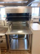 Moorwood Vulcan S/S Gas Range Salamander Grill with S/S Prep Table and Tray Stand