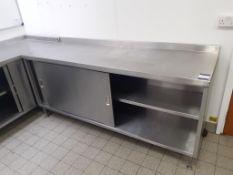 2x S/S Double Sliding Door Cupboards