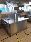 Commercial S/S Cooking Unit to include Salamander Grill, 2x Ambach Electric Range Solid Top Cookers
