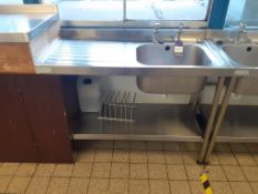 3x Sissons S/S Sink Units and 2x S/S Prep Tables