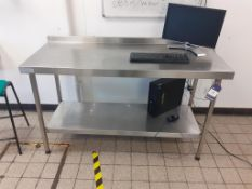 3x Sissons S/S Prep Tables and 2x Sissons S/S Sink Units