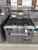 Commodore 2000 S/S Gas Range 4 Burner Industrial Cooker