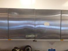 S/S Double Shelf Wall Cupboard, 4x S/S Double Door Wall Cupboard and S/S Shelf