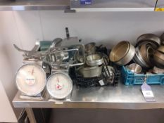 Qty of Cookware to Inc. Pans, Trays and Manual Scales