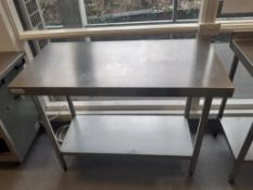 4x S/S Prep Tables and Counter Top S/S Servery