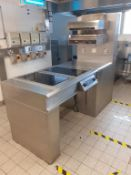 Commercial S/S Cooking Unit to include Hatco Salamander Grill, Williams Undercounter Refrigerator &