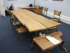 Rustic Furniture including elm board room table de