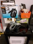 Assorted power tools including Steam cleaner, Hot