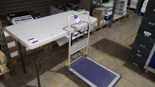 Prestar NB Series Flat Bed Trolley & Lifetime Folding Table