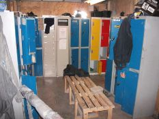 Quantity of various personnel lockers. (Grey Lindström Workwear cabinets not included)