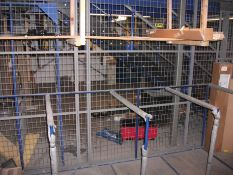 Contents and various racking to under mezzanine storage area and on mezzanine