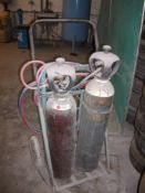 Oxy-Acetylene Burner set with trolley, (Bottles not included)