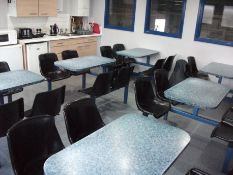 Contents to canteen including Canteen tables, fridges, microwave, toaster, kettle etc