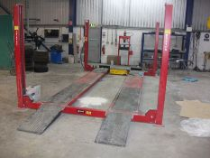 Sice Auto 4 PQC 40 WCT Wheel Alignment 4 Post Lift/Ramp Serial Number IMD746289 / MMG046099S, SWL