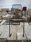 x6 Wire Chairs Black