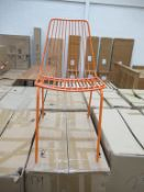 x4 Wire Chairs Orange