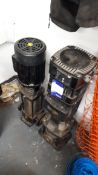 2 x Various Grundfos pumps