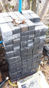 Circa 250 x Black block paving bricks