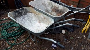 2 x Various wheel barrows
