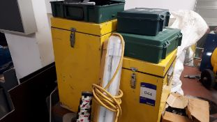 Quantity of various nuts, bolts etc to yellow box, sacks etc