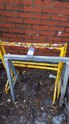 3 x Various steel trestles