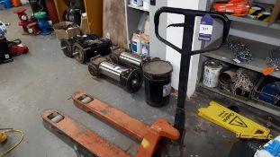 Unbadged hand hydraulic pallet truck