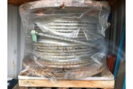 28mm Unused Wire Rope 187M long Rope Dia