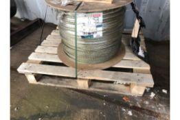 16mm Unused Wire Rope 350M long Rope Dia
