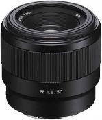 Sony Full Frame 50mm FE 1.8 Prime Lens Gobe to Box