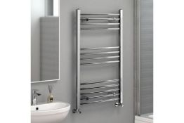 NEW & BOXED 1200x500mm - 20mm Tubes - RRP £219.99.Chrome Curved Rail Ladder Towel Radiator.Our Nancy