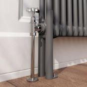 2 Column Traditional Radiator Feet (PAIR) Anthracite - 27 x 10.2 cm. RA2BLEGA 2-Column Radiator Foot