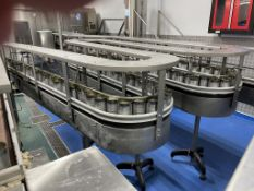 Conveyor System- Approx 50m of 100mm Wide Acrylic Salt Belt Transer and Marshalling Conveyor