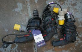 3 x various drills