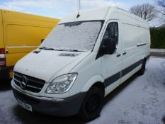 Mercedes Sprinter 313 CDI LWB Van, Registration HY12 S