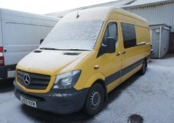 Mercedes Sprinter 313 CDI Van, Registration LK63 V