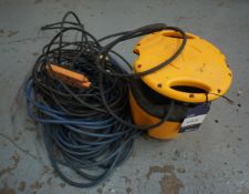 110volt transformer with various extension leads.