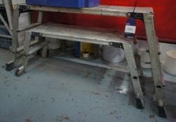 2 x various aluminium trestles
