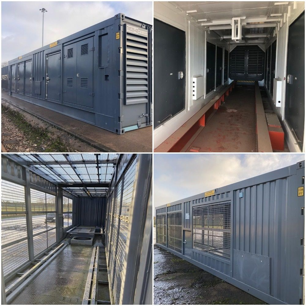 7x Unused 40ft Acoustic Generator Containers and 10x Unused 40ft Chiller Containers