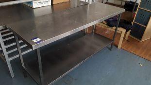 Stainless Steel Food Prep Table with Shelf Under 1800 x 600. Located at Fresco's Hemel Hempstead