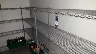 5 x Bays Wire Shelving Units to cold room. Located at The Great Little Catering Company Limited -