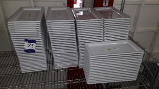 Approx. 130 x Melamine Platter Serving Plates 300 x 180. Located at The Great Little Catering